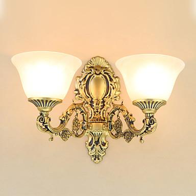 ريفي / بلدي / التقليدية / الكلاسيكية / الحديثة / المعاصرة مصابيح الحائط معدن إضاءة الحائط 220V / 110V 2*60W