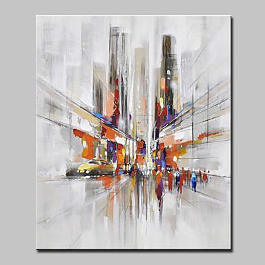 Pintura al óleo pintada a colgar Pintada a mano - Paisaje / Paisajes Abstractos Modern / Estilo europeo Lona