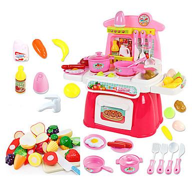beiens Conjuntos Toy Cozinha Pratos Toy & Tea Sets Aparelhos para cozinhar alimentos para crianças Brinquedos de Faz de Conta Iluminação