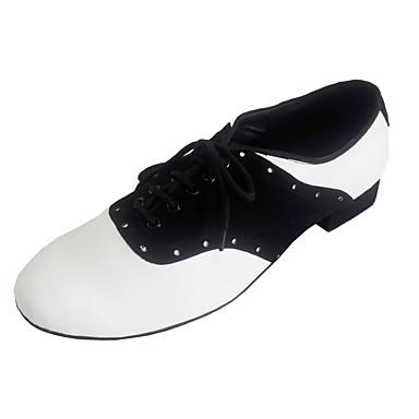 Chaussures de danse(Multicolore) -Personnalisables-Talon Bottier-Daim Cuir-Chaussures de Swing