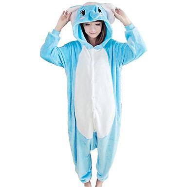 Kigurumi-pysjamas Elefant Onesie-pysjamas Kostume Korallfleece Blå Cosplay Til Voksne Pysjamas med dyremotiv Tegnefilm Halloween Festival