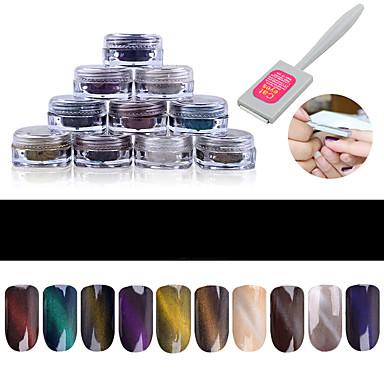 10pcs Brillante arte de uñas Manicura pedicura Glitters / Clásico Diario
