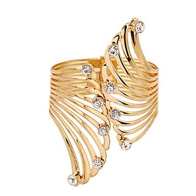 Damen Klobig Manschetten-Armbänder Armband - Platiert, vergoldet Modisch Armbänder Golden Für Weihnachts Geschenke Hochzeit Party