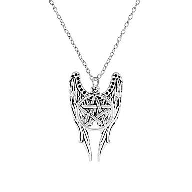 ieftine Colier la Modă-Pentru femei Coliere cu Pandativ Αστέρι inger pazitor Euramerican Aliaj Argintiu Coliere Bijuterii Pentru Zilnic