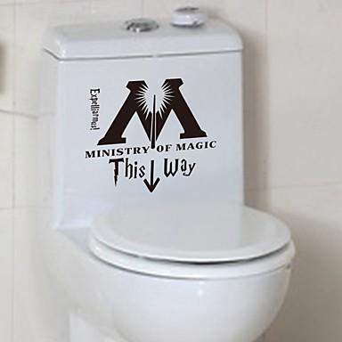 لواصق المرحاض - لواصق حائط الطائرة وقت الفراغ / كارتون دورة المياه / لواصق المرحاض