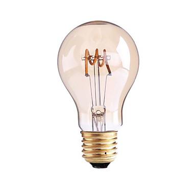 1pc 4W 1000lm E26 / E27 B22 LED-glødepærer G60 1 LED perler COB Mulighet for demping Varm hvit 110-130V 220-240V