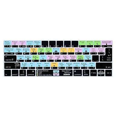 xskn® os x snarvei silikon tastatur hud og berøringsfeltet beskytter for 2016 nyeste macbook pro 13.3 / 15.4 med berørings bar retina
