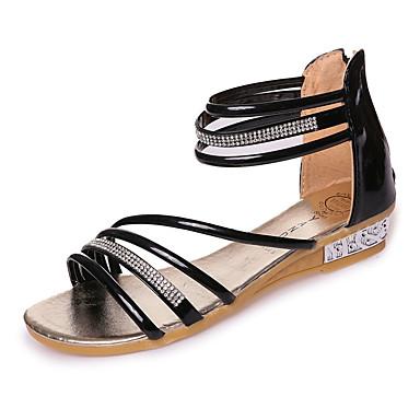 72a6d486 Mujer Zapatos PU Primavera Confort Sandalias Tacón Plano Dorado / Negro /  Plata 5606785 2019 – $16.99
