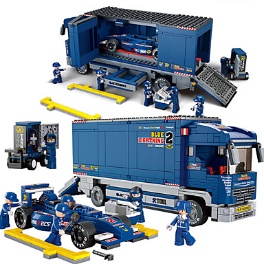 Sluban Carros de Brinquedo / Blocos de Construir / Brinquedos de Montar 641 pcs Carro / Carro de Corrida Criativo / Faça Você Mesmo