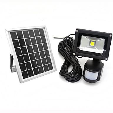 10w ledd bevegelsessensor floodlight ip65 kul / varm farge utendørs sollys floodlight pir vanntett ledet reflektor solcelle