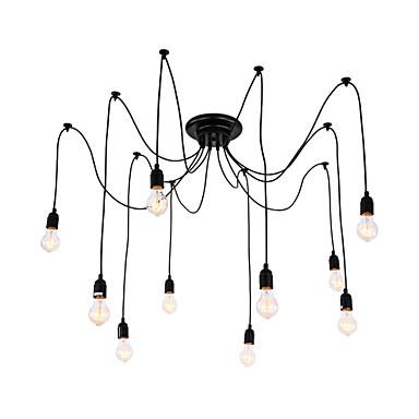 QINGMING® 10-Light Cluster Anheng Lys Nedlys - designere, 110-120V / 220-240V Pære Inkludert / 15-20㎡ / E26 / E27