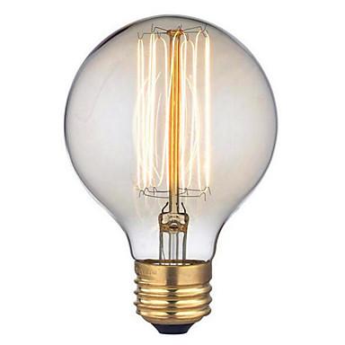 1pç 40 W E26 / E27 G95 Branco Quente 2300 k Retro / Decorativa Incandescente Vintage Edison Light Bulb 220-240 V