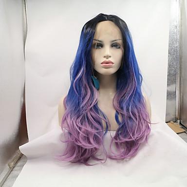 Syntetiske parykker Bølget Naturlig hårlinje Dame Blonde Forside Cosplay-parykk Syntetisk hår