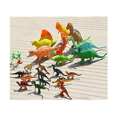 Drager og dinosaurer / Dinosaur Figur / Modellsett Jurassic Dinosaur / Triceratops / Tyrannosaurus Rex Plast Gutt Barne Gave