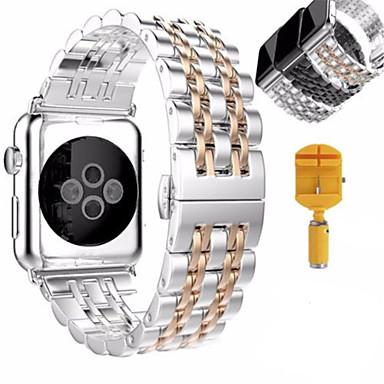 Pulseiras de Relógio para Apple Watch Series 3 / 2 / 1 Apple borboleta Buckle Aço Inoxidável Tira de Pulso