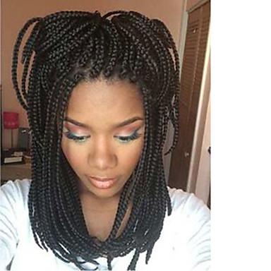 Χαμηλού Κόστους Συνθετικές περούκες με δαντέλα-Συνθετικές μπροστινές περούκες δαντέλας Ίσιο / Κυματιστό Kardashian Στυλ Δαντέλα Μπροστά Περούκα Μαύρο Σκούρο Καφέ Συνθετικά μαλλιά Γυναικεία / Φυσική γραμμή των μαλλιών / Φυσική γραμμή των μαλλιών