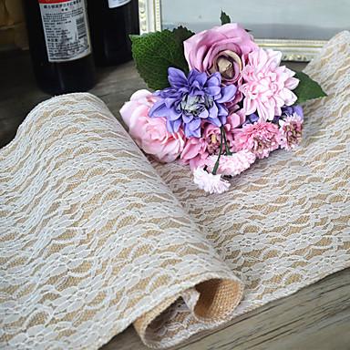 Material Juta Centro de Mesas - Não-Personalizado Toalhas Finas de Mesa Outros Mesas Flor 1 Todas as Estações