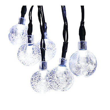GMY® 6M أضواء سلسلة 30 المصابيح أبيض قابلة لإعادة الشحن / ضد الماء <5 V / IP44
