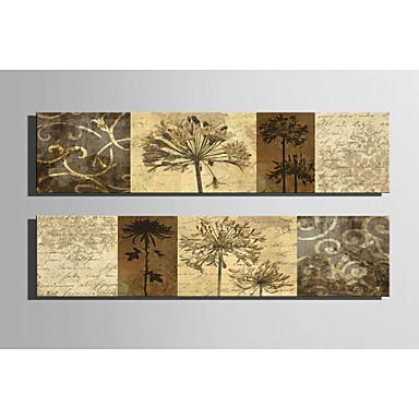 Gerdirilmiş Tuval Resmi Kanvas Set Botanik Çift Panelli Boyama Duvar Dekor Ev dekorasyonu