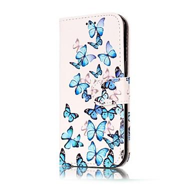 Capinha Para Samsung Galaxy A5(2017) / A3(2017) Porta-Cartão / Carteira / Com Suporte Capa Proteção Completa Borboleta Rígida PU Leather