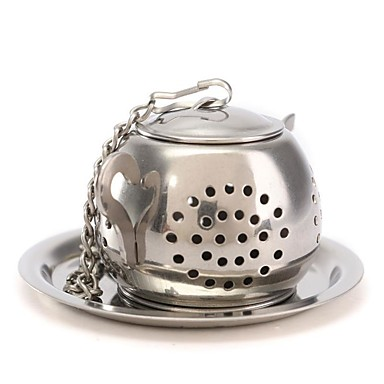 Aço Inoxidável Manual 1pç Filtro de Chá