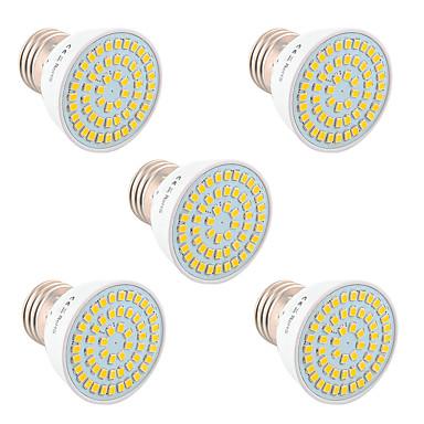 YWXLIGHT® 5pçs 5W 400-500lm GU10 GU5.3(MR16) E26 / E27 Lâmpadas de Foco de LED 54 Contas LED SMD 2835 Decorativa Branco Quente Branco