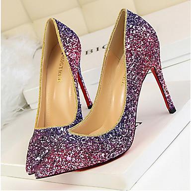 Femme Similicuir Chaussures Automne Printemps Chaussures Champagne Aiguille à Confort 05666435 Talons Violet Habillé Bleu Talon Eté wr5BRwqxH