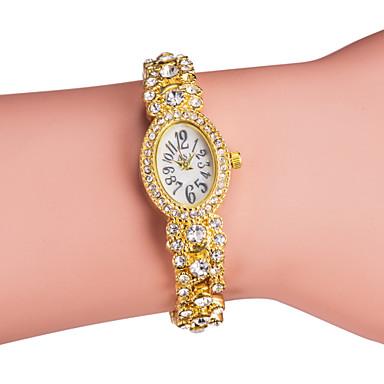 Dame Modeur Armbåndsur Japansk Quartz Imiteret Diamant Bånd Glitrende Elegante Sølv Guld Guld Sølv