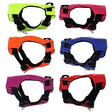 Cachorro Arreios / Colete Roupas para Cães Sólido Vermelho / Verde / Azul Náilon Ocasiões Especiais Para animais de estimação Homens / Mulheres Fashion