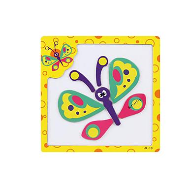 voordelige 3D-puzzels-3D-puzzels / Legpuzzel / Steekpuzzels Vlinder Magnetisch Hout Cartoon Kinderen Geschenk
