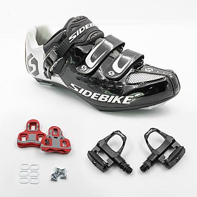SIDEBIKE Fahrradschuhe mit Pedalen & Pedalplatten Rennradschuhe Anti-Shake Polsterung Extraleicht(UL) Atmungsaktiv Schweißableitend