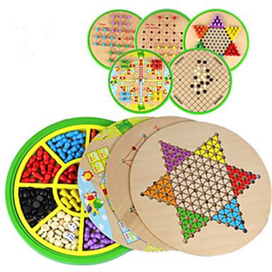 Jogos de Tabuleiro Jogo de Xadrez Halma Madeira Peças Unisexo Crianças Dom