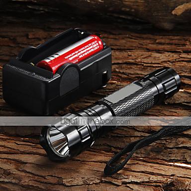 UltraFire Lanterne LED LED 1200 lm 5 Mod LED Cu Baterie și Încărcător Focalizare Ajustabilă Camping/Cățărare/Speologie Utilizare Zilnică