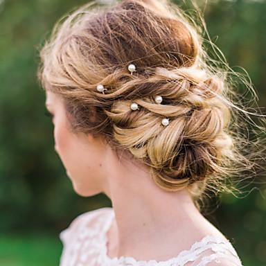 Imitação de Pérola Liga Pino de cabelo Pele de cabelo Ferramenta de cabelo 1 Casamento Ocasião Especial Casual Capacete