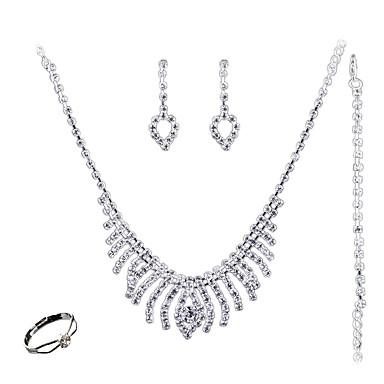 Mulheres Conjunto de jóias - Fashion, Euramerican Incluir Branco Para Casamento / Festa / Diário / Anéis