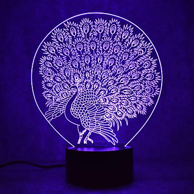 1 Pça. Luz noturna 3D USB Impermeável / Sensor / Regulável LED / Moderno / Contemporâneo