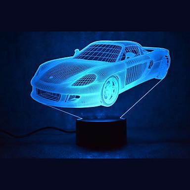 1 pièce Veilleuse 3D USB Imperméable / A détecteur / Intensité Réglable LED / Moderne contemporain