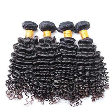 100% umprocessed virgin human hair, no shedding and no tangle 3 pieces/lot Brazilian Deep Wave Hair Wavy