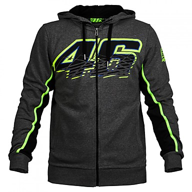 VR46 MotoGP Motorsport Racing Hoodie Jacket Black Mens Textile Biker Sweatshirt