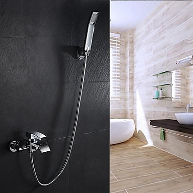 Torneira de Banheira - Moderna Arte Deco / Retro Modern Cromado Banheira e Chuveiro Válvula Cerâmica