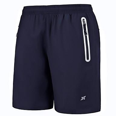 Homens Shorts de Corrida - Preto, Azul Esportes Shorts Roupas Esportivas Secagem Rápida, Respirável, Materiais Leves