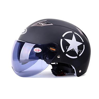halpa Autoelektroniikka-YEMA 329 Puolikypärä Aikuiset Unisex Moottoripyörä Helmet UV-suoja / Hengittävä
