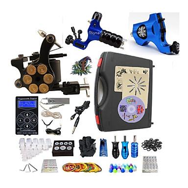BaseKey Máquina de tatuagem Kit de tatuagem profissional - 3 pcs máquinas de tatuagem, Profissional Fonte de Alimentação LED Capa Inclusa