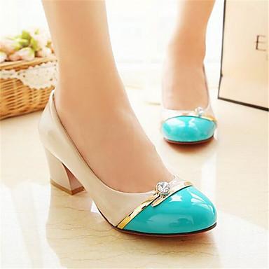 Polyuréthane Printemps Chaussures Rouge Talon à Bas 05691446 Femme Confort Bleu Noir Talons Chaussures FI5xIqwA