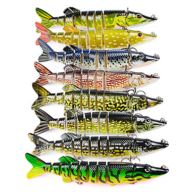2 pcs خدع الصيد طعم صيد جامد رمح بلاستيك الصيد البحري