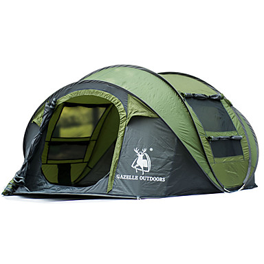 Camp Sleeping Gear Sports & Entertainment Outdoor Camping Gear 70*210cm Polyester Travel Sleeping Bag+automatic Instant Pop Up Hiking Tent 240 *180*100cm For 3-4 Persons Moderate Price
