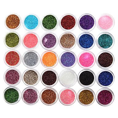 30 cores Sombra para Olhos / Pós Unha Prova-de-Água Longa Duração Natural Maquiagem para o Dia A Dia / Maquiagem para Dias das Bruxas / Maquiagem de Festa Maquiagem Cosmético / Mate