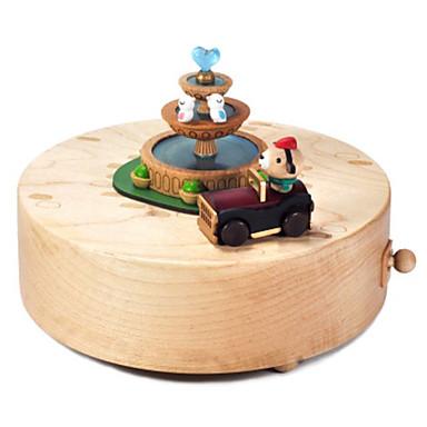 Caixa de música Madeira Quadrada Carruagem Presente Unisexo Dom