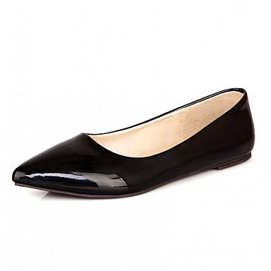 Mulheres Sapatos Courino Couro Ecológico Verão Outono Conforto Inovador Sapatos clube Sapatos formais Rasos Caminhada Sem Salto Dedo