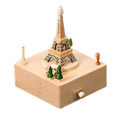 voordelige 3D-puzzels-Muziekdoos Modelbouwsets Houten modellen Carrousel Merry Go Round Schattig Hout Kinderen Volwassenen Unisex Jongens Meisjes Speeltjes Geschenk
